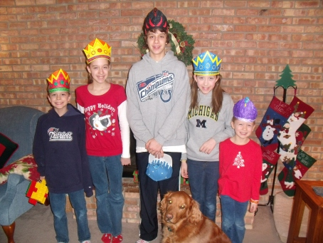 The Hedlund family on Wise Man Day.