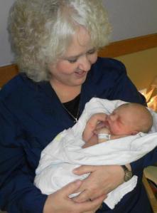 Nancy with little Aidan.