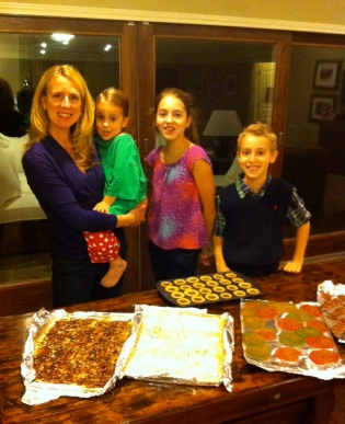 The Wade family with cookies!