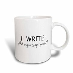 The perfect mug for coffee-guzzling writers at work!