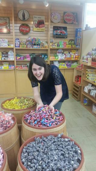 They also had large barrels of candy. I was excited!