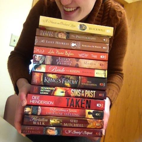 Me with fall colors, because nothing says seasonal office decorations like piles of books.